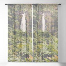 Jungle Waterfall III Sheer Curtain