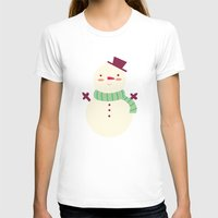 snowman T-shirts featuring Snowman by Claire Lordon