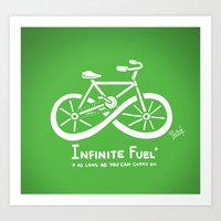 pocket fuel Art Prints featuring Infinite Fuel  by Italiux