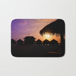 Sunset in paradise Bath Mat