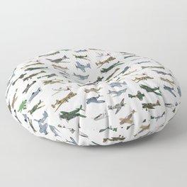 Various WW2 Planes Floor Pillow