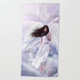 Some Clouds Have Wings Beach Towel