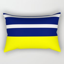Summer Patio Perfect, Yellow, White & Navy Rectangular Pillow