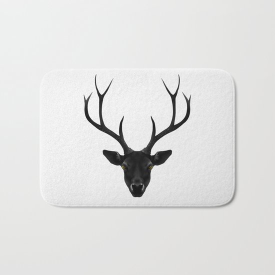 The Black Deer Bath Mat
