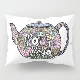 Tea Pot Head Pillow Sham