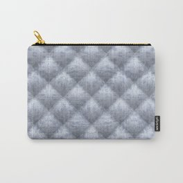 Quilted Soft Blue Velvety Pattern Carry-All Pouch