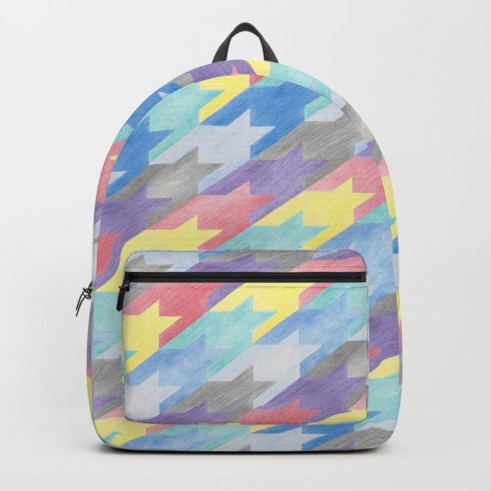 Multicoloured Houndstooth Backpack