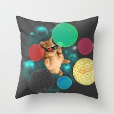 A PLAYFUL DAY Throw Pillow