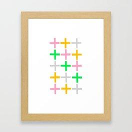 Fifteen Crosses Framed Art Print