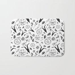 Creepy Cute Floral Occult Print Bath Mat