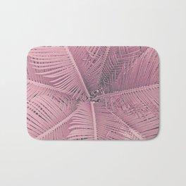 Pink Palm Leaves Bath Mat