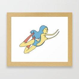 La Nage. Framed Art Print