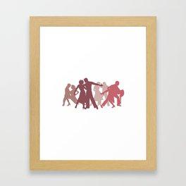Latin Dancers Illustration Framed Art Print