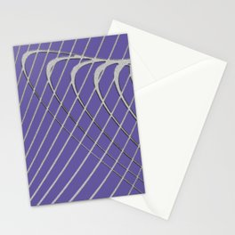 grid on lilacs Stationery Cards