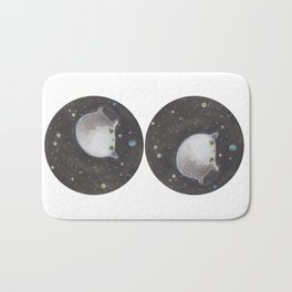Blob floating in space Bath Mat
