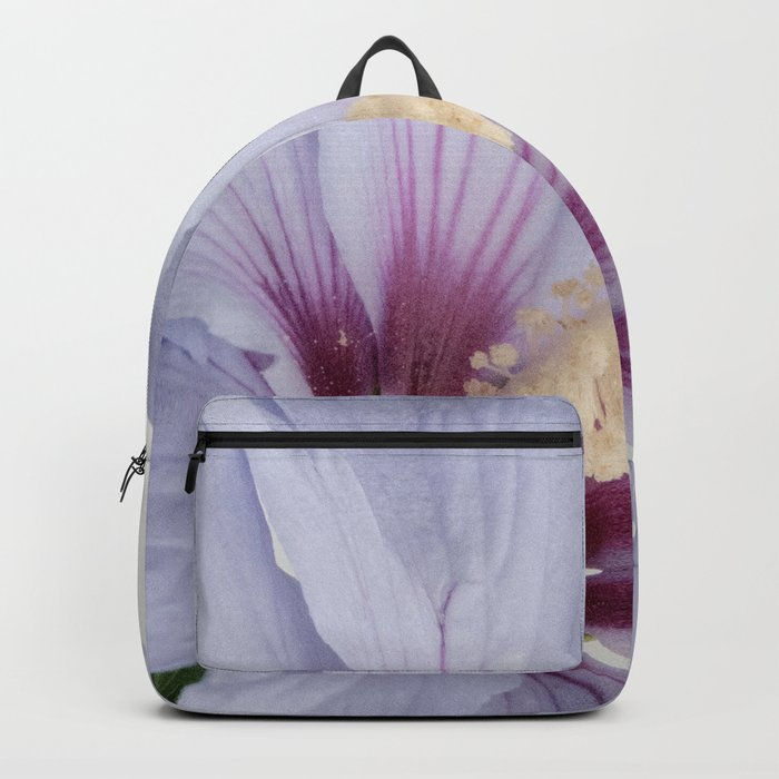 Soft Purple Blue Hibiscus Flower #1 #decor #art #society6 Backpack