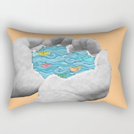 A Different Kind Of Pool Rectangular Pillow
