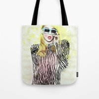 2ne1 Tote Bags featuring 2NE1 - CL (BAZAAR) by Margot Park