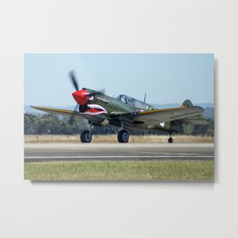 Avalon Airshow - VH-ZOC Curtiss P-40N Warhawk Metal Print