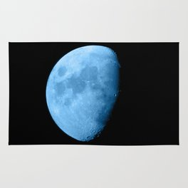 4K Dark Side of the Moon Ice Blue Rug