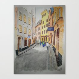 streets of stockholm Canvas Print