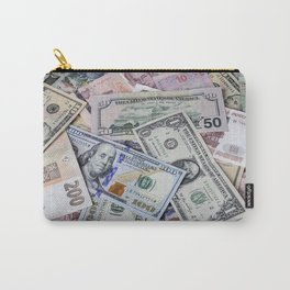 A collection of various foreign currencies Carry-All Pouch