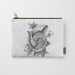 Dystopian Conch - Black & White Carry-All Pouch