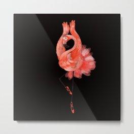Flamingo ballerina Metal Print