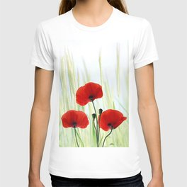 Poppies red 008 T-shirt