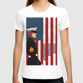 Honor, Courage & Commitment T-shirt