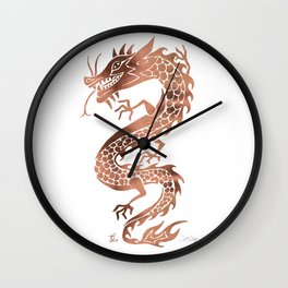 Chinese Dragon – Rose Gold Palette Wall Clock