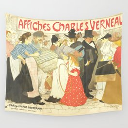 """Théophile Steinlen """"The Street (La rue), poster for the printer Charles Verneau"""" Wall Tapestry"""