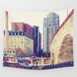 Stone Arch Bridge-Minneapolis, Minnesota Wall Tapestry
