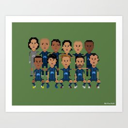 Paris Saint-German 2013 Squad Art Print