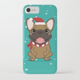 French Bulldog Waiting for Santa - Fawn edition iPhone Case