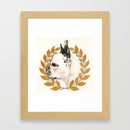 French Bulldog - @french_alice dog Framed Art Print