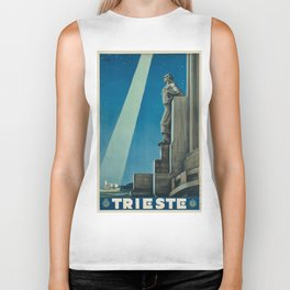 Vintage poster -Trieste Biker Tank