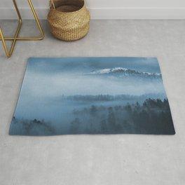 Mountains and fog. Rug