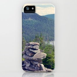inukshuk - Parc National de la Gaspésie (Québec, Canada) iPhone Case