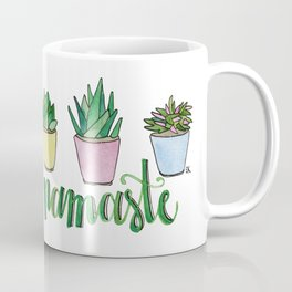 Namaste Succulents by Eileen Graphics Coffee Mug