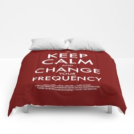FREQUENCIES KEEP CALM POSTER Comforters