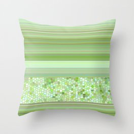 GRAPHIC POP - pastell green Throw Pillow