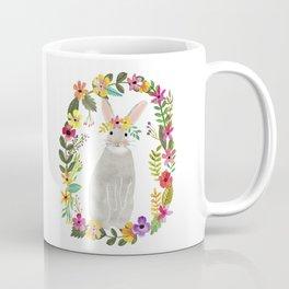 Floral Bunny Coffee Mug