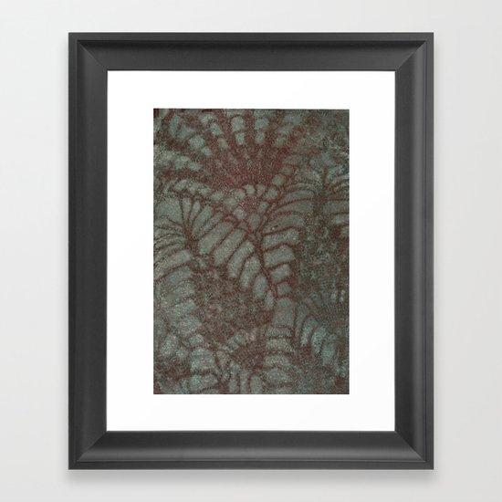 lace Framed Art Print