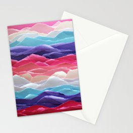 Colour waves II Stationery Cards