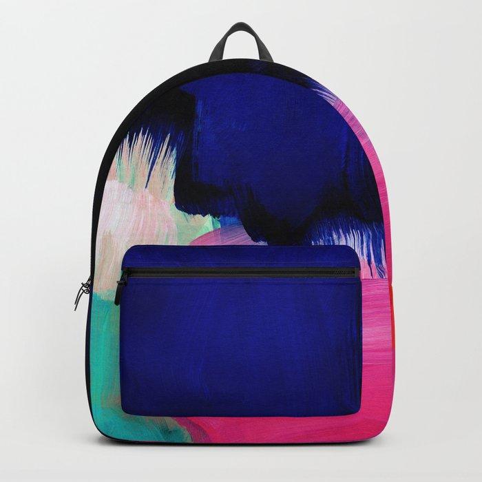Blue nightfall abstract Backpack