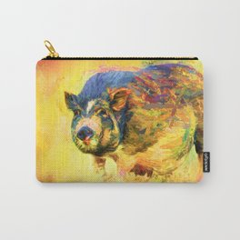 Jazzy Pig Colorful Animal Art by Jai Johnson Carry-All Pouch