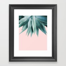 Agave fringe - blush Framed Art Print