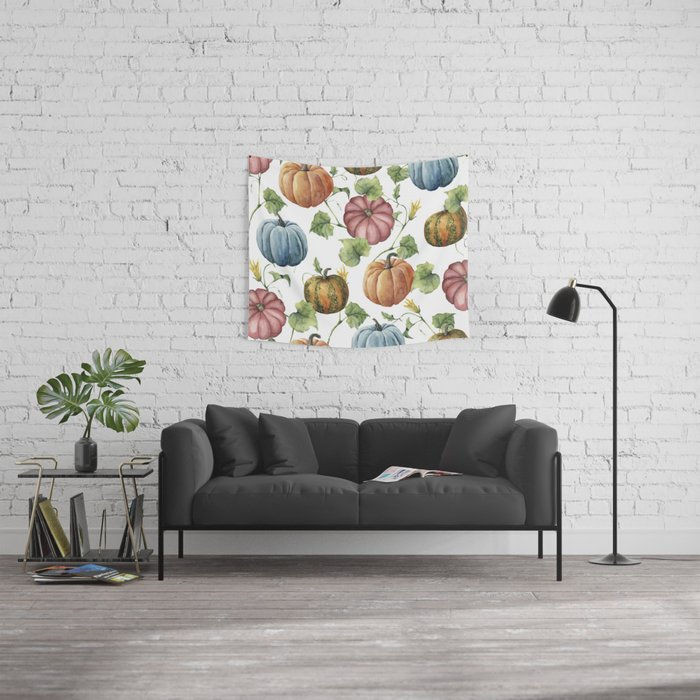 PUMPKINS WATERCOLOR Wall Tapestry