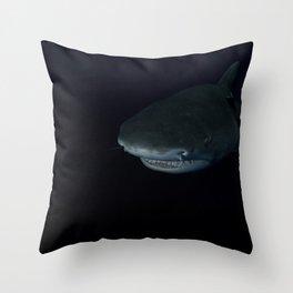 Shark After Dark Throw Pillow